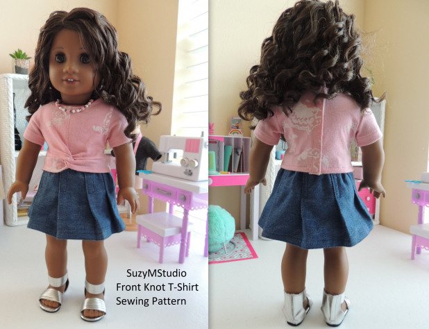 Front Knot T-Shirt Sewing Pattern SuzyMStudio