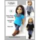 Asymmetrical T-shirt pattern for 18 inch dolls-SuzyMStudio