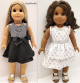 "Suzette Dress and Top Pattern designed to fit 18"" Doll such as American Girl - S"