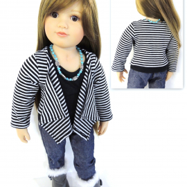 Cascade Jacket and Vest-Slim 18 inch dolls Sewing Pattern