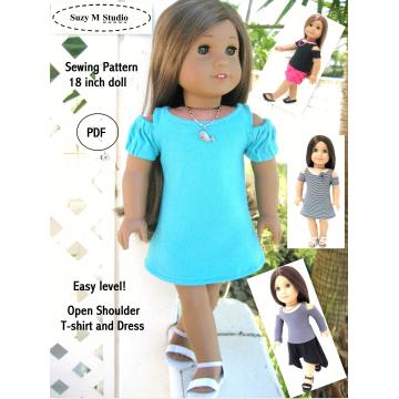 Open Shoulder T-shirt and Dress