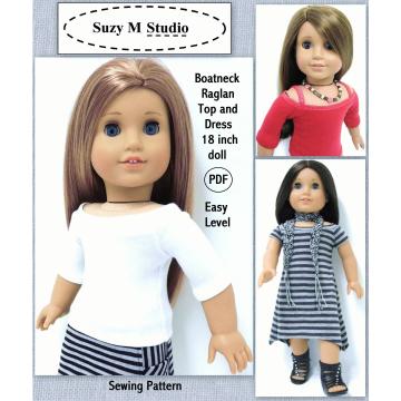 Boatneck Raglan Dress and Top