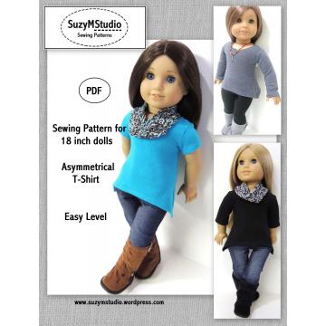 Asymmetrical T-Shirt - PDF Sewing Pattern