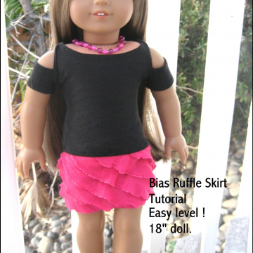 Free Bias Ruffle Skirt Tutorial