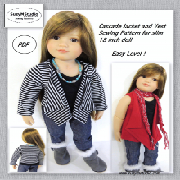 Cascade Jacket and Vest-Slim 18 inch Dolls