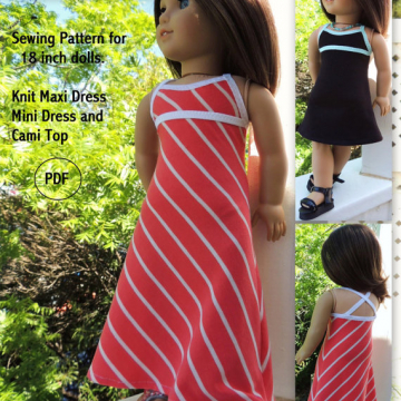 Knit Maxi Dress and Cami Top